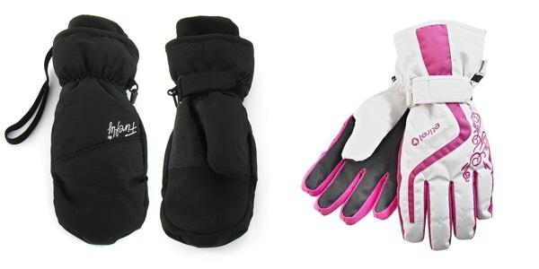 Moufles et gants de ski