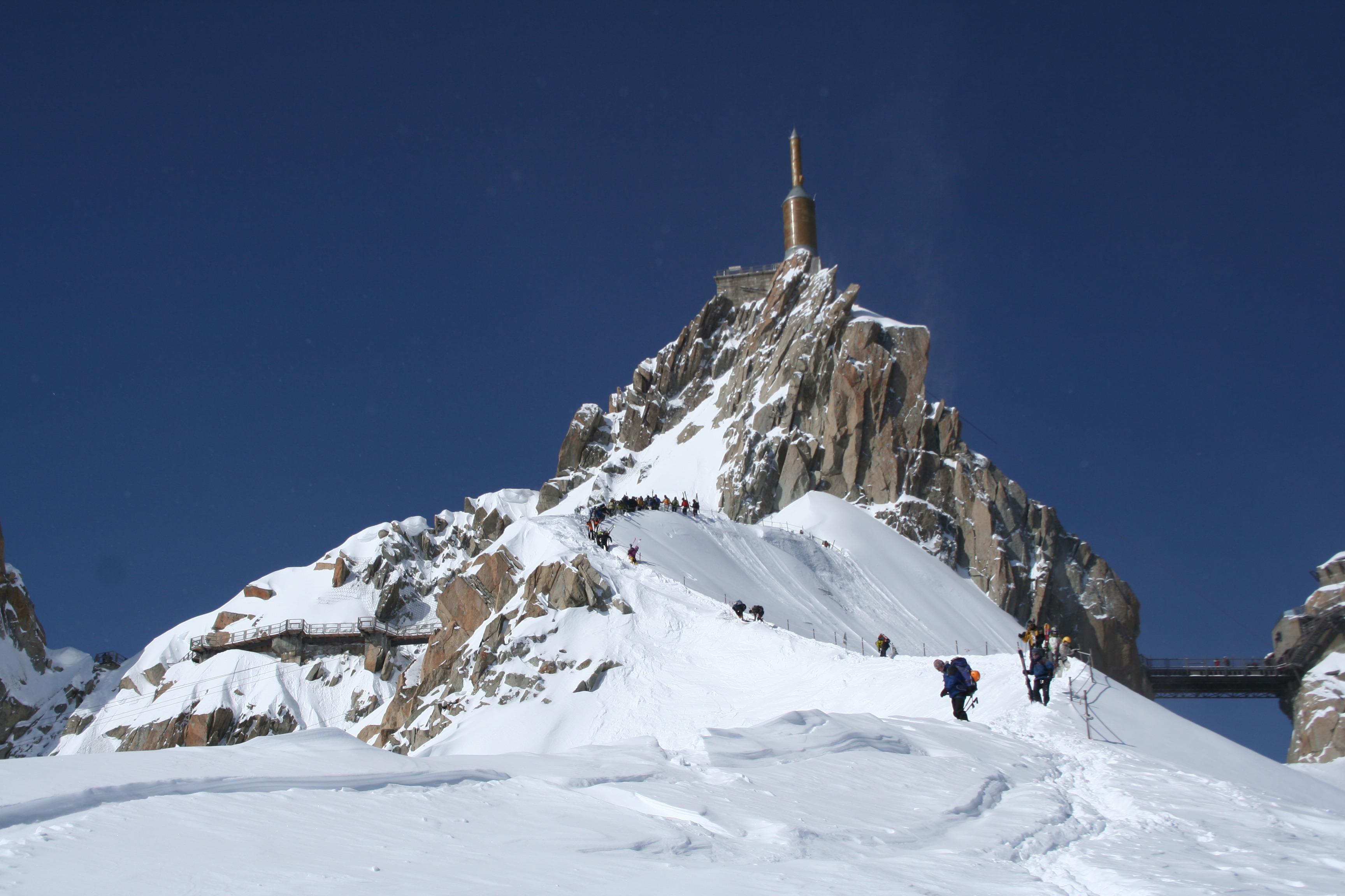 Chamonix, Aiguille du Midi, ski
