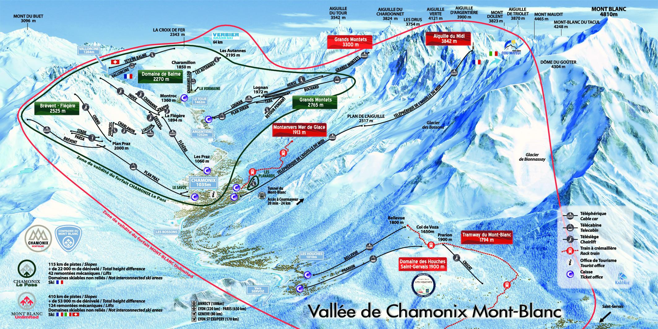 Domaine skiable de Chamonix