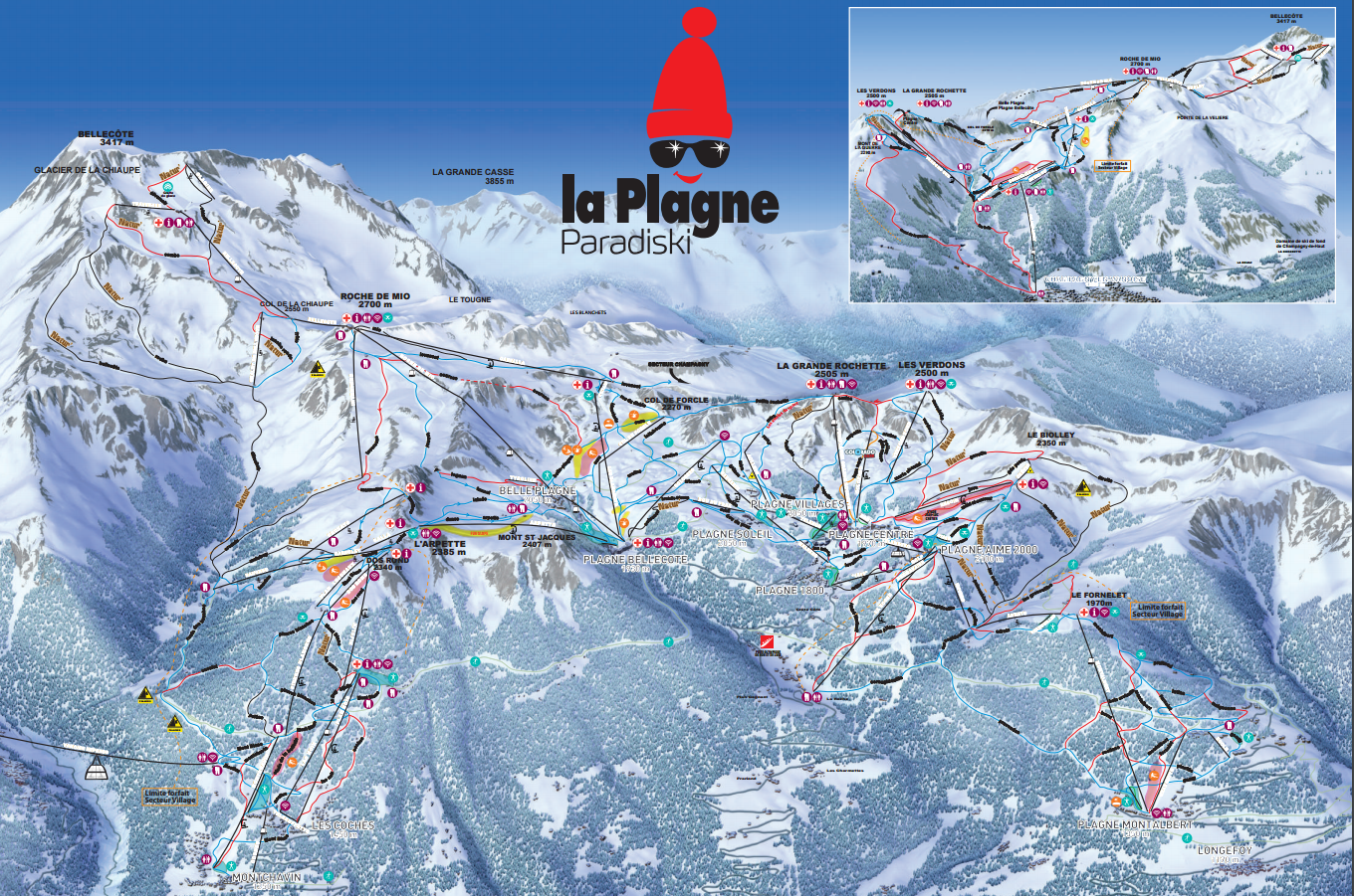 guide de la station la plagne informations domaine skiable weloveski. Black Bedroom Furniture Sets. Home Design Ideas