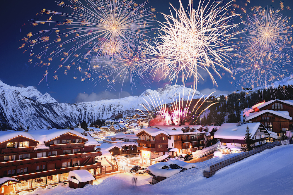 Courchevel sous les feux d'artifice - Photo : Office du tourisme de Courchevel - David André