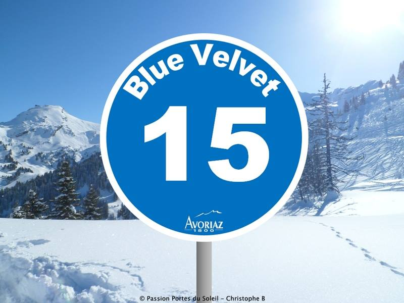 Piste Blue Velvet à Avoriaz - Crédit photo : Office du tourisme d'Avoriaz
