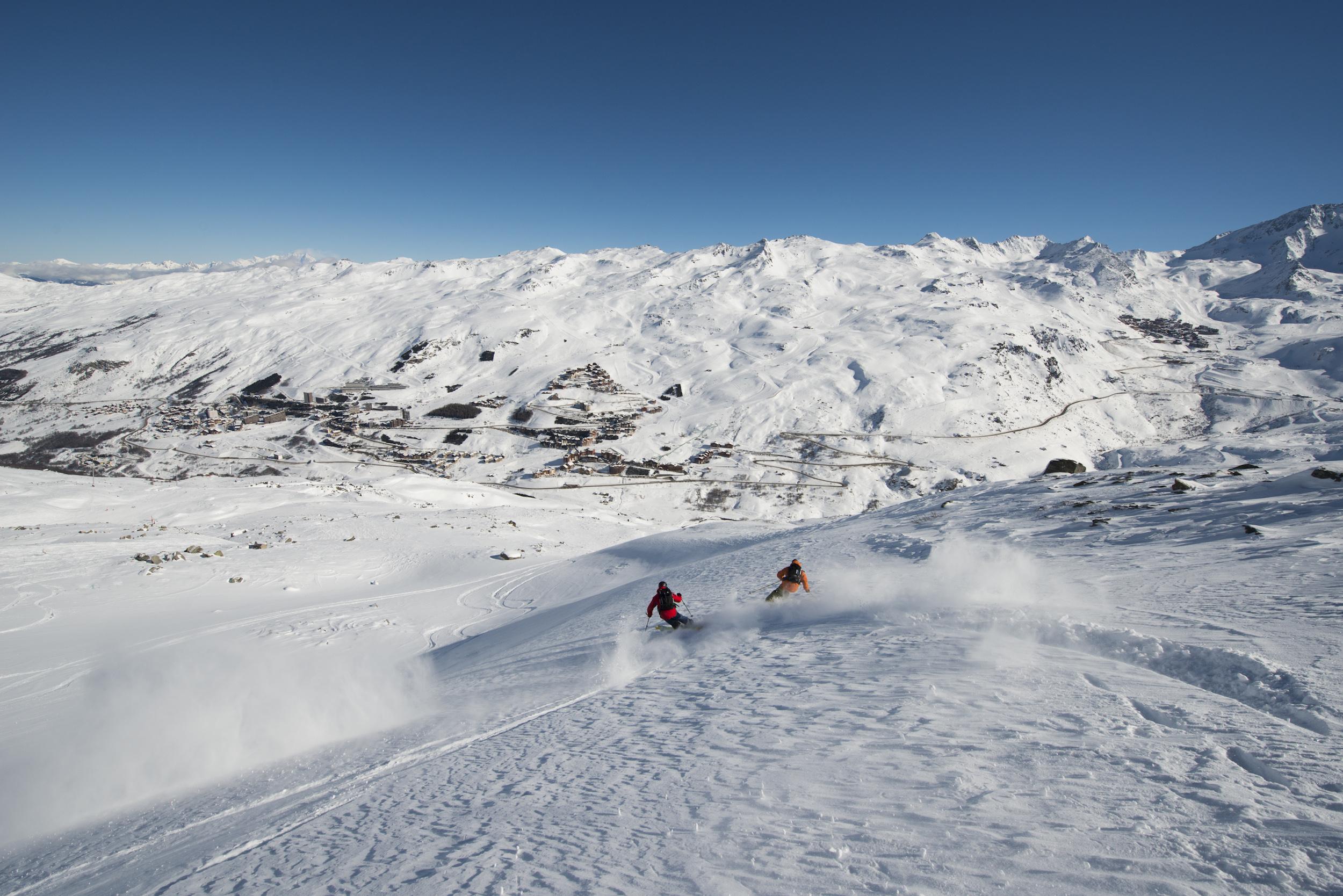 Piste de ski les Menuires©P.Lebeau