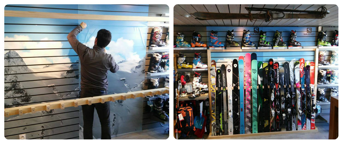 Préparation du magasin à Arêches Beaufort - Crédit photo : INTERSPORT Arêches Beaufort