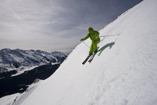 Ski au printemps. Crédits : Armelle Solelhac - Simon Tremblay