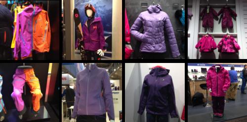 Vêtements d'hiver violets. Crédits : Agence Switch