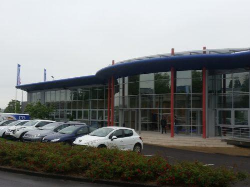 Extérieur de la centrale d'achat INTERSPORT à Longjumeau. Crédits – Antoine Gaudillere.