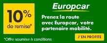 Louez votre voiture avec Europcar