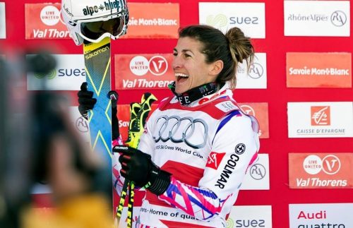 Ophélie David, athlète la plus titrée du skicross