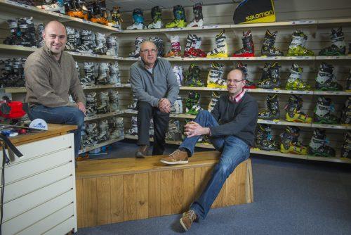Alain, Éric et Thierry Ronchail : Propriétaires du plus vieux magasin de sport du village des Contamines-Montjoie