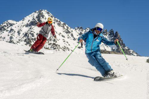 Démonstration de monoski à l'école Ski School à Val Thorens (D.Bertrand , avril 2016-1)