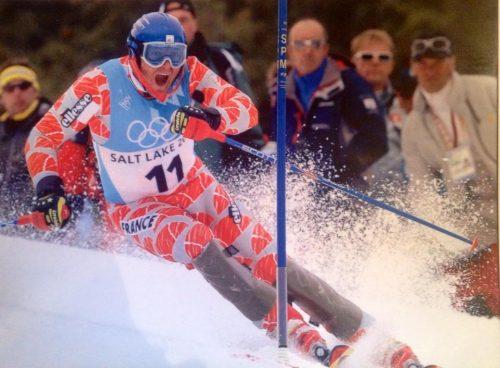 Sébastien Amiez aux lors du slalom aux JO de Salt Lake City