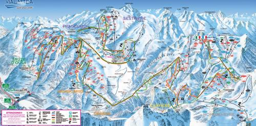 Plan de la station de Montgenèvre