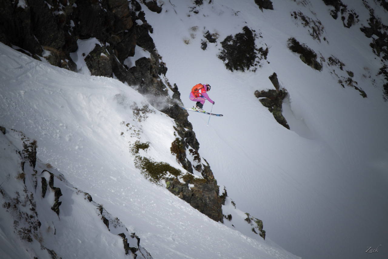 Jules Michaud during a world cup, Freeride Junior Tour, in Andorre (©Dom Daher, Jacques Cheylus, Xavier Ferrand)