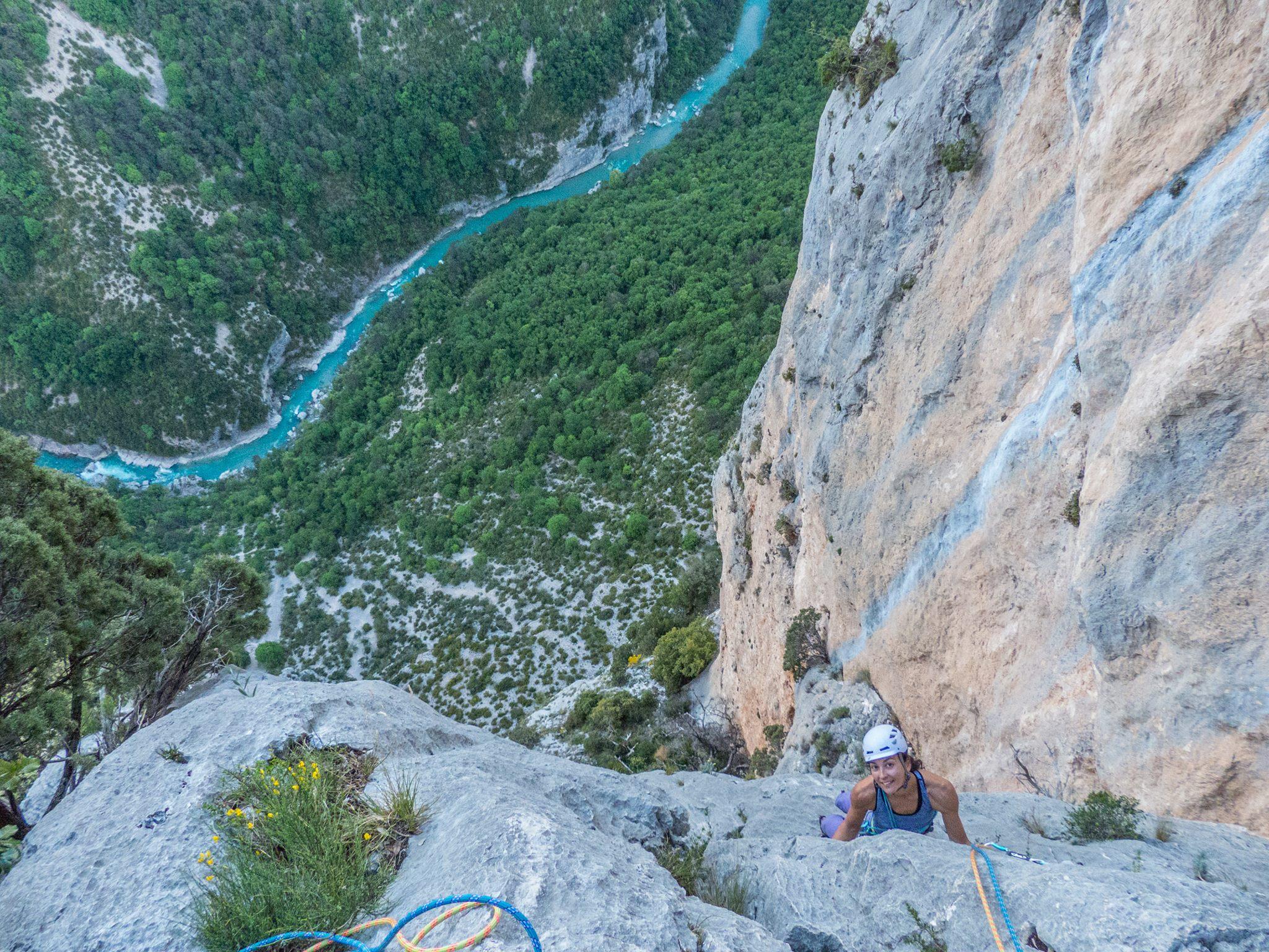 Escalade dans les Gorges du Verdon (®Fred Vionnet- grimpisme.com)