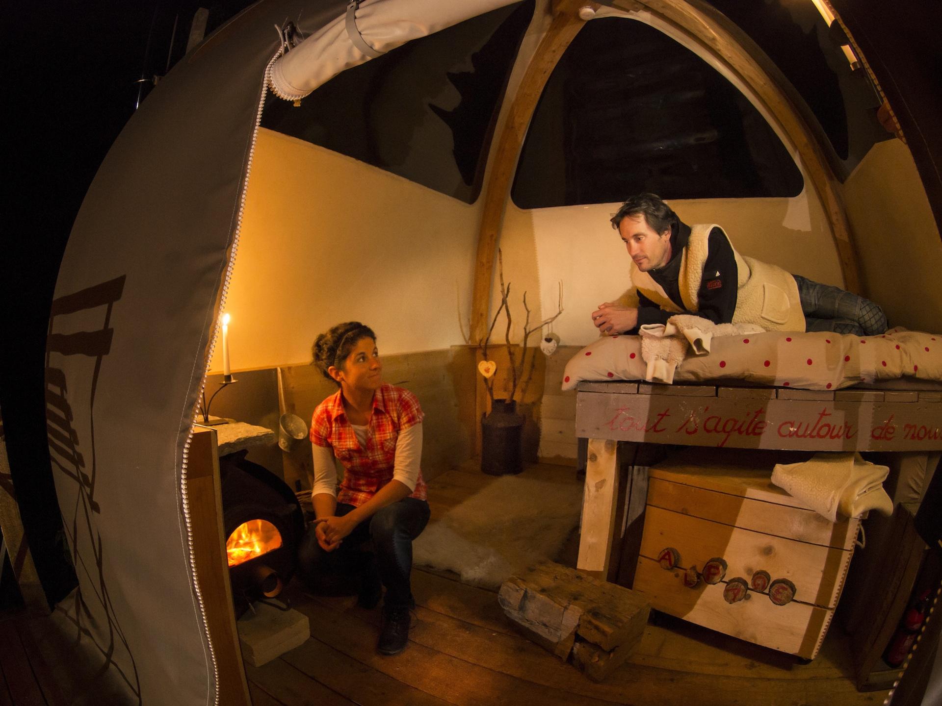 Nuit sous dôme à l'éco-bivouac de Semnoz