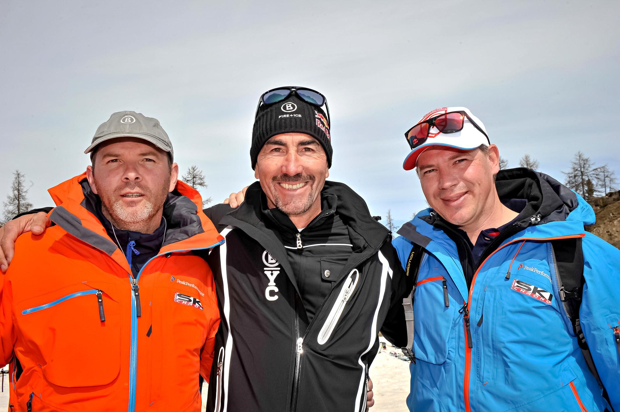 Au challenge des moniteurs à Serre-Che en 2015 avec Luc Alphand et Jonathan Gaillard de Ski Chrono
