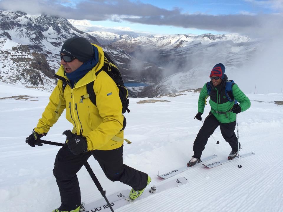 Bruno Bertrand en ski de randonnée