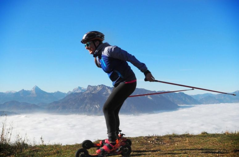 Cross-skating : le ski-roue tout terrainpour skier en été !