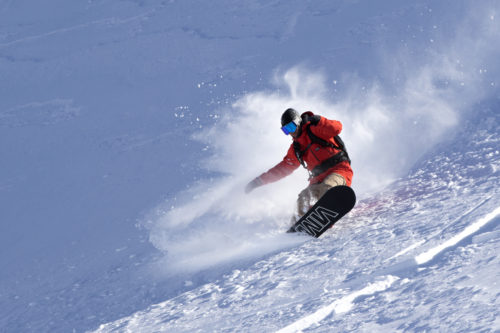 Tendances snowboard - Werni Stock porte la veste Aspect de Bonfire Outerwear
