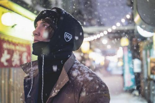 Victor Daviet lors de son mois de tournage au Japon en janvier 2019 avec Pirate Production © Jeremy Pancras