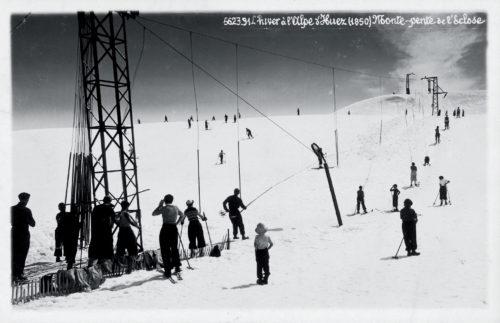 L'Eclose, le 1er téléski de l'Alpe d'Huez a participé à l'essor de la station © Barrett/L'Alpe d'Huez