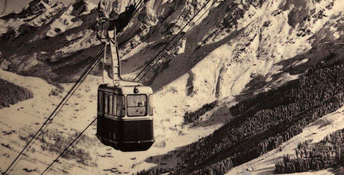 Deuxième génération de téléphérique, celui de Beauregard à La Clusaz a été construit en 1956.