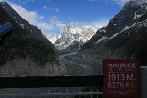 La Mer de Glace à Chamonix en juin 2019. Les bouleversements climatiques affectent en premier lieu la montagne : déjà +2°C de réchauffement dans les Alpes…