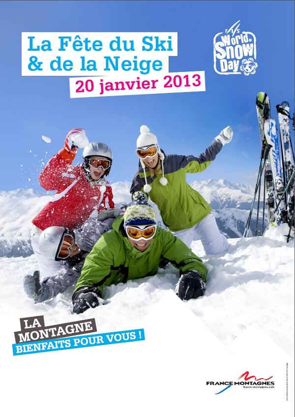 Affiche fête du ski 2013