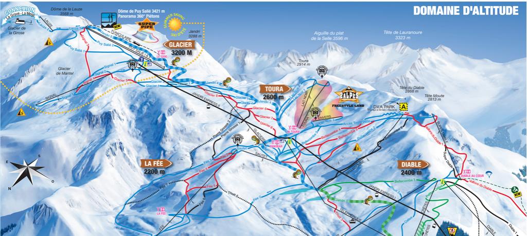 Plan de Station les 2 Alpes