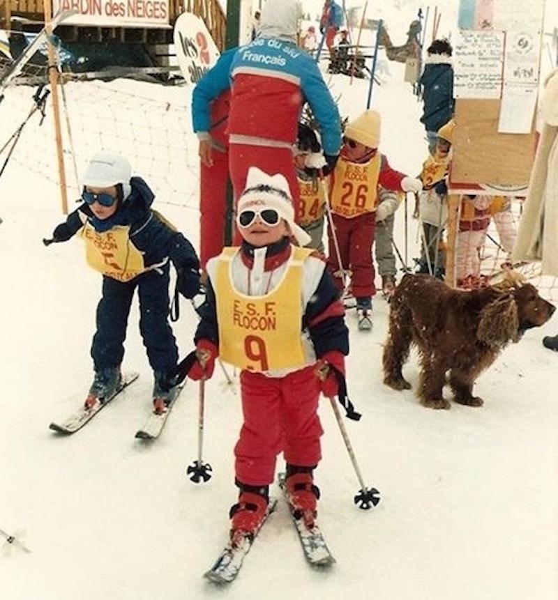 Marion ROLLAND, début en ski. Crédits - Marion ROLLAND