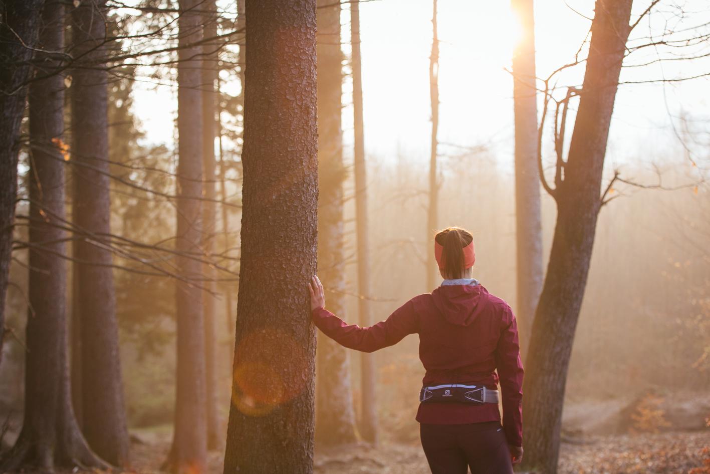 Trail running avec Salomon au Semnoz (Vanessa Andrieux)