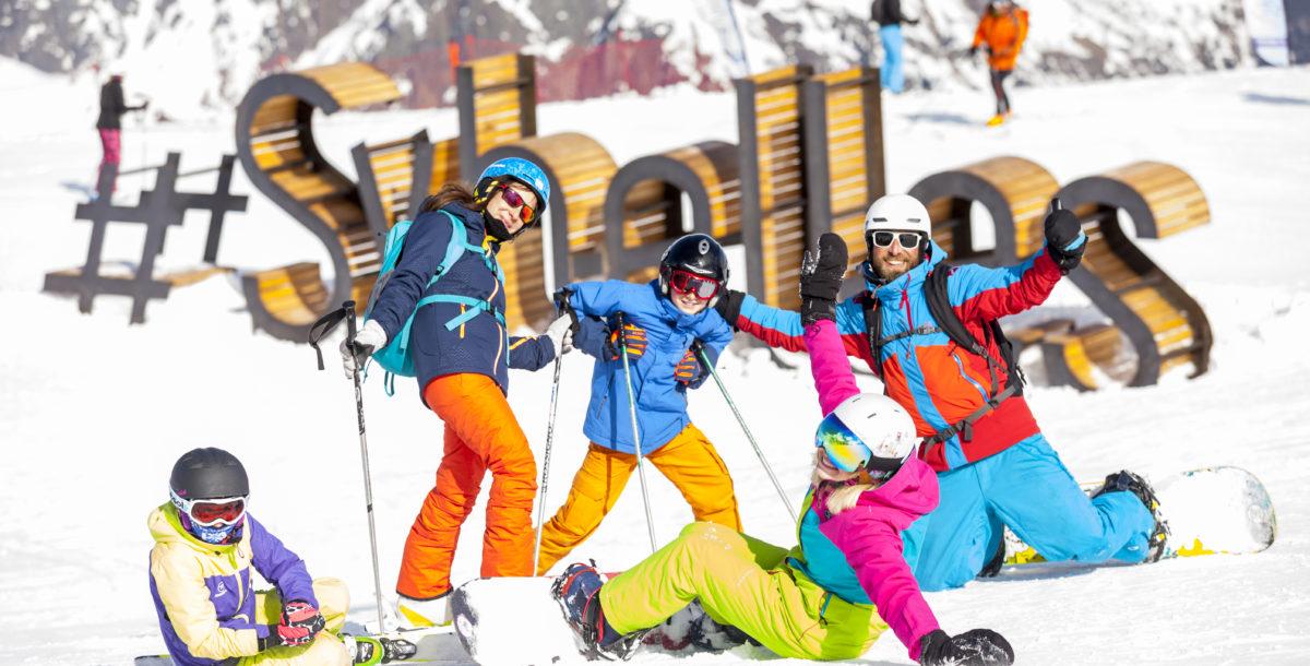 Le selfie est top tendance, les domaines skiables le mettent en scène façon Hollywood. Ici aux Sybelles.